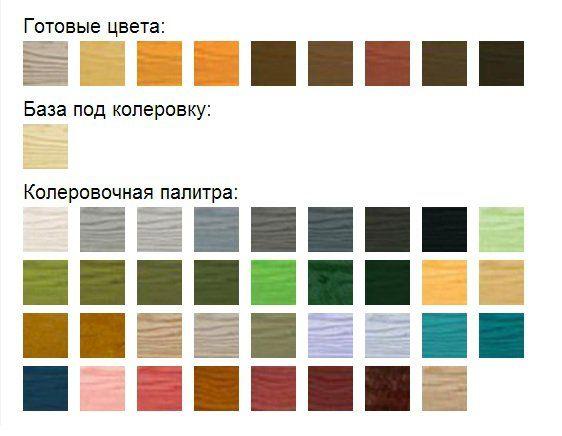 Пинотекс классик защитный состав для древесины цветовая гамма